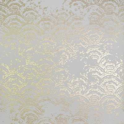 Eclipse Wallpaper in White and Gold by Antonina Vella for York Wallcoverings - Burke Decor