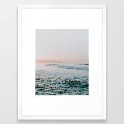summer waves Framed Art Print - Society6
