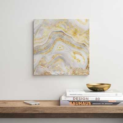 Golden Agate - Wrapped Canvas Print - AllModern