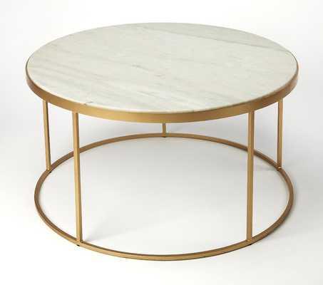 Koehler Marble Coffee Table - Wayfair