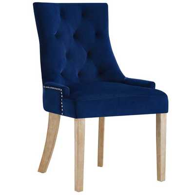 POSE VELVET DINING CHAIR IN NAVY - Modway Furniture