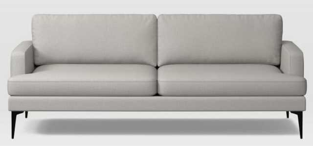Andes Grand Sofa, Poly, Yarn Dyed Linen Weave, Frost Gray, Dark Pewter - West Elm