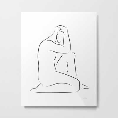 Sititng Male Nude - Society6
