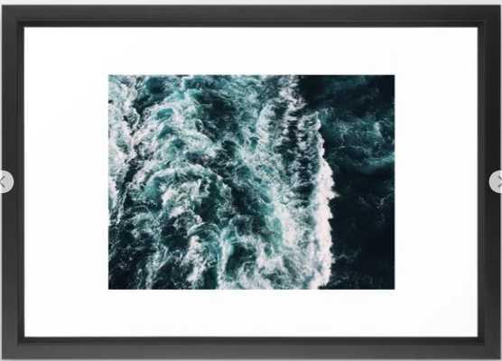 Green Seas, Yes Please Framed Art Print - Society6