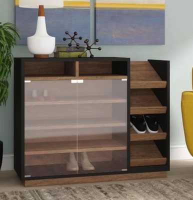 Contemporary 16 Pair Shoe Storage Cabinet - Wayfair