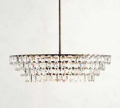Alma Crystal Chandelier, Pewter - Pottery Barn