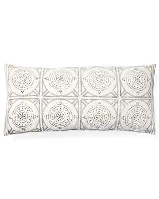 "Camille Mosaic Lumbar 14 x 30"" Pillow Cover - Ivory - Insert sold separately - Serena and Lily"