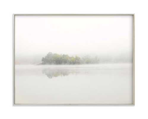 "The Island - 24"" x 18"", Champagne Silver Frame - Minted"