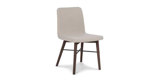 Kissa flax beige matte walnut dining chair ( set of 2) - Article