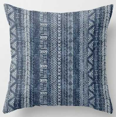"Mud Cloth Stripe 20"" Indoor Throw Pillow / with insert - Society6"