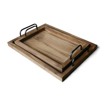 Chalfont 2 Piece Ottaoman/Coffee Table Tray Set - Wayfair