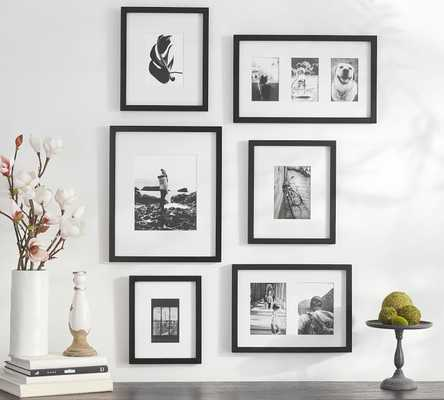 Gallery in a Box, Black Frames, Set of 6 - Pottery Barn