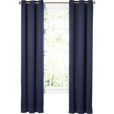 "Wayfair Basics Solid Blackout Grommet Single Curtain Panel, Navy, 95""L - Wayfair"