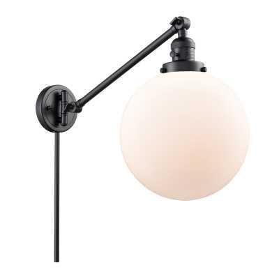 Matte Black Vicini Swing Arm Lamp - Wayfair