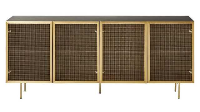 trace wire mesh cabinet credenza - CB2