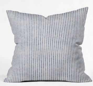 AEGEAN STRIPE Throw Pillow By Holli Zollinger - with polyester insert - Wander Print Co.