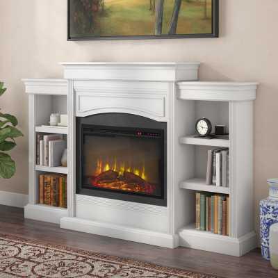 Allsop Mantel Wall Mounted Electric Fireplace - White - Wayfair