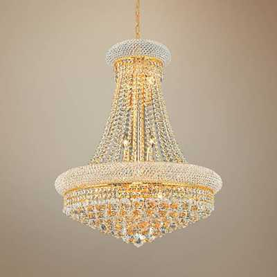 "Primo 24"" Wide Gold 14-Light Crystal Chandelier - Lamps Plus"