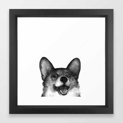 Corgi Framed Art Print by Laura Graves - Society6