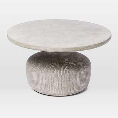 Tambor Concrete Outdoor Drum Coffee Table - West Elm
