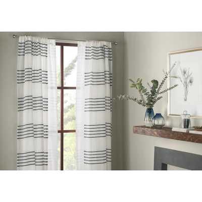 Winterbourne Down Striped Sheer Rod Pocket Curtain Panels (set of 2) - AllModern