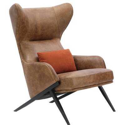 Yarnell Leather Balloon Chair - Wayfair