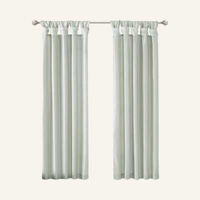 Solid Regular Solid Tab Top Single Curtain Panel - Wayfair