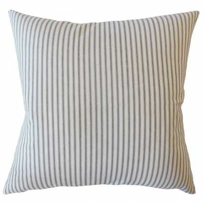 "Fabius Striped Pillow Navy with down insert - 18""x18"" - Linen & Seam"