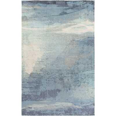 Sebbie Sky Blue/Aqua Area Rug 5x7 - Wayfair