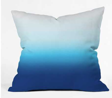 """Under the Sea Ombre  Throw Pillow - insert included 18""""x18"""" - Wander Print Co."""