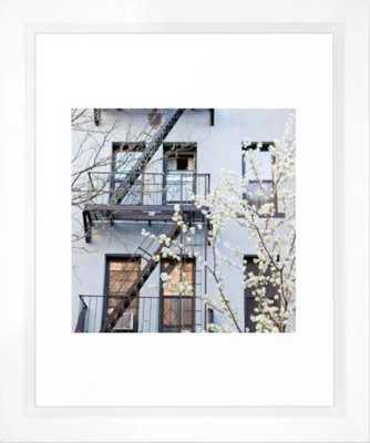 "Brooklyn Spring - 10"" x 12"" - vector white - Society6"