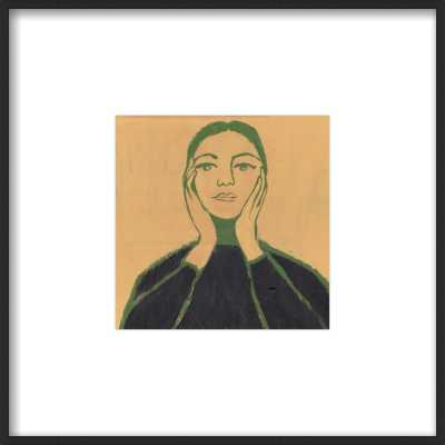 "Maria Callas- 8""x8"" Contemporary Matte Black  Metal Frame with Matte - Artfully Walls"