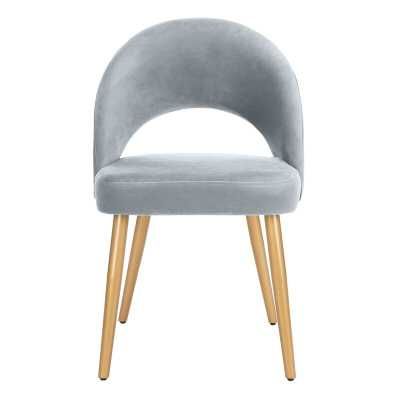 Velour Velvet Upholstered Side Chair (Set of 2) - Wayfair
