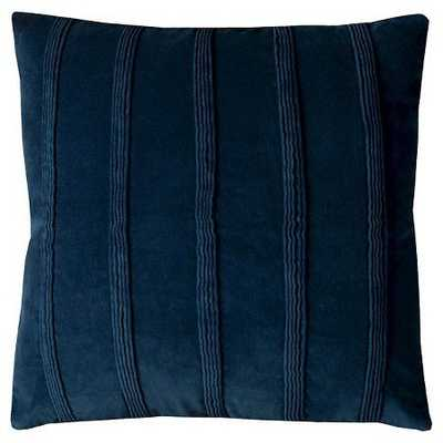 Navy Pintuck Stripes Throw Pillow - Target