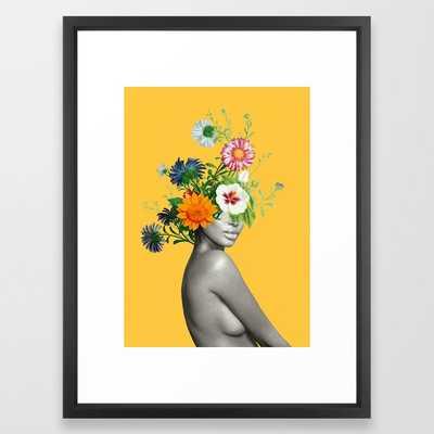 Bloom 5 Framed Art Print vector black - Society6