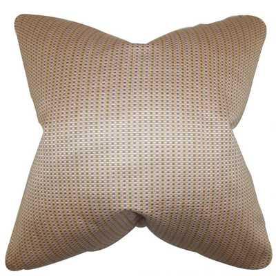 """Adair Geometric Pillow Pink -18''x 18""""-Down insert - Linen & Seam"""