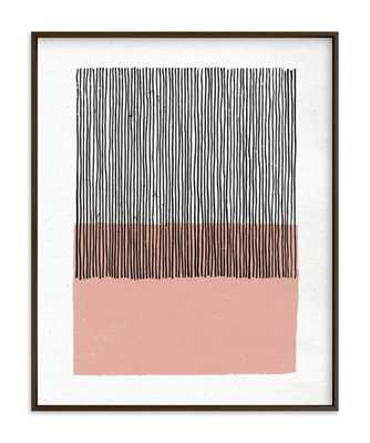 """color streak - dusty rose - 16"""" x 20"""" - matte black frame with white border - Minted"""