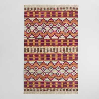 Woven Cotton Kilim Orissa Area Rug - World Market/Cost Plus