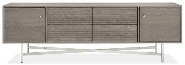 Adrian Media Cabinets- gray ash - Room & Board