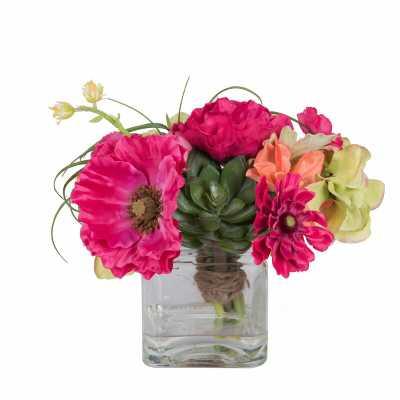 Mixed Floral Arrangements and Centerpieces in Vase - Wayfair