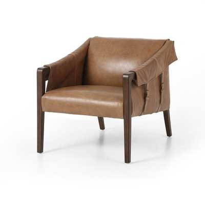 Bauer Leather Chair in Various Colors - Burke Decor