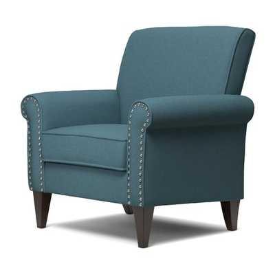 Amet Armchair, Caribbean Blue Linen - Wayfair