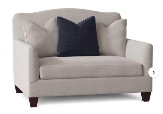 "CUSTOM: Fairchild 40"" Chair and a Half- SLIPCOVERED - Birch Lane"