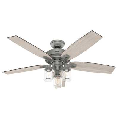 Crown Canyon 52 in. LED Indoor Matte Nickel Ceiling Fan with Light Kit - Home Depot