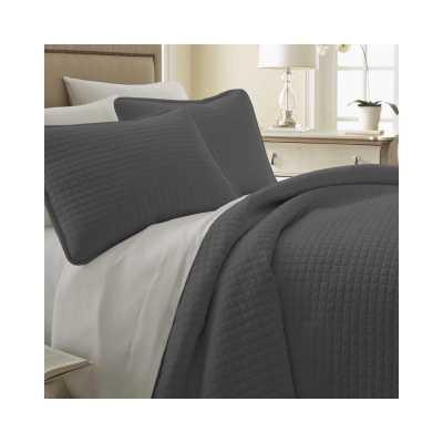 Acosta Reversible Quilt Set - Slate - Birch Lane