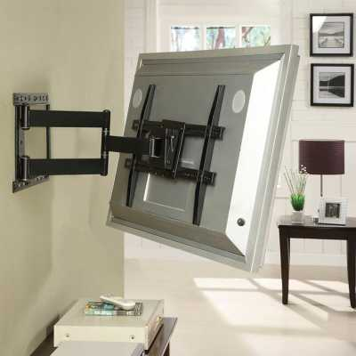 Large Full Motion Articulating ArmSwivelTilt Wall Mount for 19 - 80 Flat Panel Screens in Black - Wayfair
