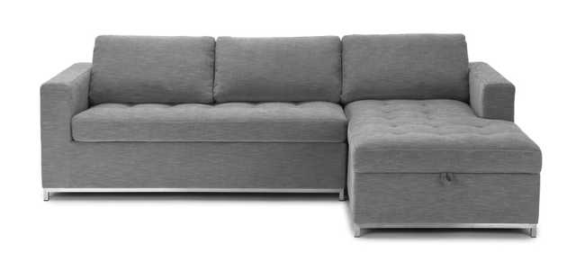 Soma Dawn Gray Right Facing Sofa Bed - Article