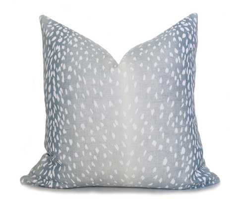 "Antelope Pillow Cover - Spa Blue, 20"" - Willa Skye"