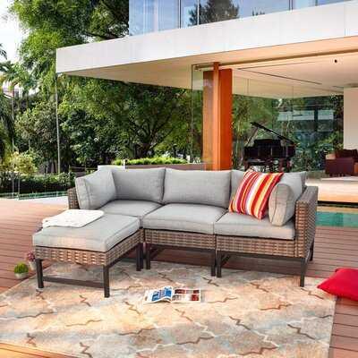 Patio Sectional with Cushions - Wayfair