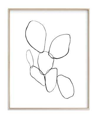 """Cactus Line Drawing  - 18x24"""" - matte brass - Minted"""